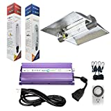 Hydroplanet™ 1000W Digital ballast Dimmable HPS Mh Grow Light System Hood for Plants with XXXL 6inch Air Cooled Tube Grow lights Reflector (1000W) Review