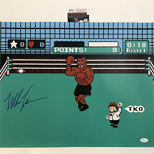 Autographed/Signed Mike Tyson Punchout Nintendo Video Game Boxing 16x20 Photo JSA COA