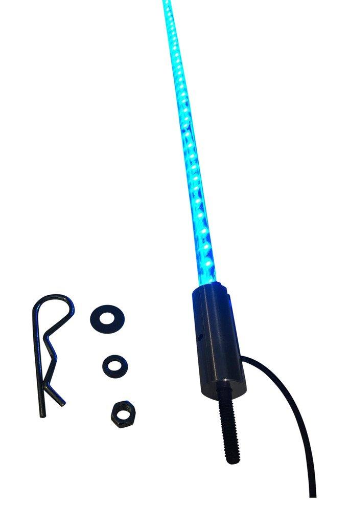 PAIR 3FT WHITE LED LIGHT WHIP ATV UTV SXS FX Whips
