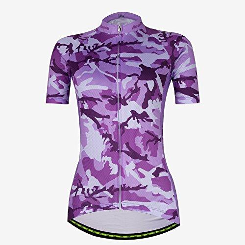 Bib Pants Shirt (Cycling Jersey Women Aogda Bike Shirts Bicycle Bib Shorts Ladies Biking Pants Tights Clothing (Large))