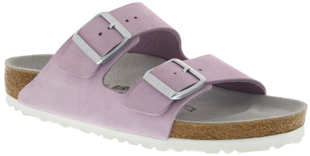 Birkenstock Women's Arizona Soft Footbed Sandal Lilac Nubuck Size 42 N EU by Birkenstock