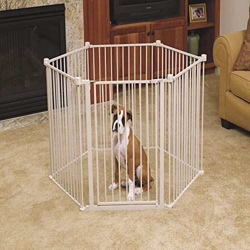 Carlson Pet Yard and Convertible Super Wide Gate ()
