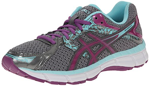 Asics Womens Gel-Excite 3 Running Shoe Charcoal/Grape/Aqua Splash