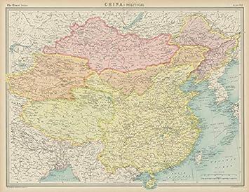 Amazon Com China Political Tibet Sin Kiang Inner Outer Mongolia
