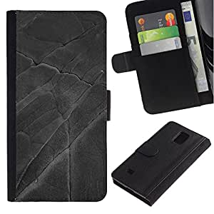 All Phone Most Case / Oferta Especial Cáscara Funda de cuero Monedero Cubierta de proteccion Caso / Wallet Case for Samsung Galaxy Note 4 IV // Leaf Pattern