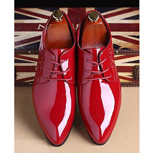 Los De Del Derby Cuero Del Dedo Ocasionales Estilista De Red De Zapatos Hombres La De Brogue Pie Vendimia Acentuado De Charol Pelo Boda Caballero Zapatos Negocios De De Banquete Del xwETWRvq5t