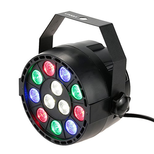 Lixada DMX-512 RGBW LED Stage PAR Light Strobe Professional 8 Channel Party Disco DJ Show 15W AC 100-240V