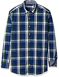 Men's Big and Tall Long Sleeve Large Plaid Button Down Shirt