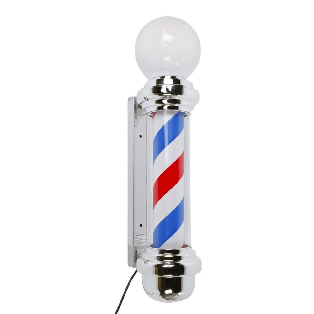 reakfaston Classic Rotating Hair Salon Shop Barber Pole Light 32'' M338D Rotating Barber Pole LED Light