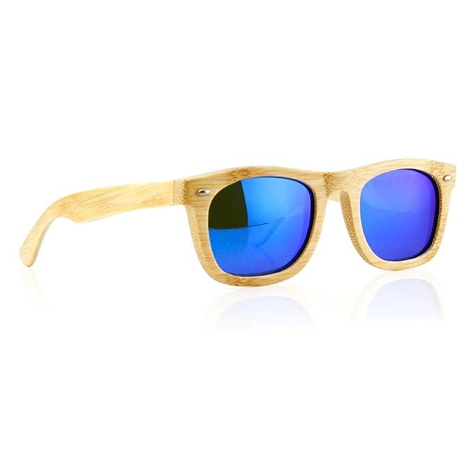Amazon.com: Anteojos de sol con marco de madera, polarizados ...