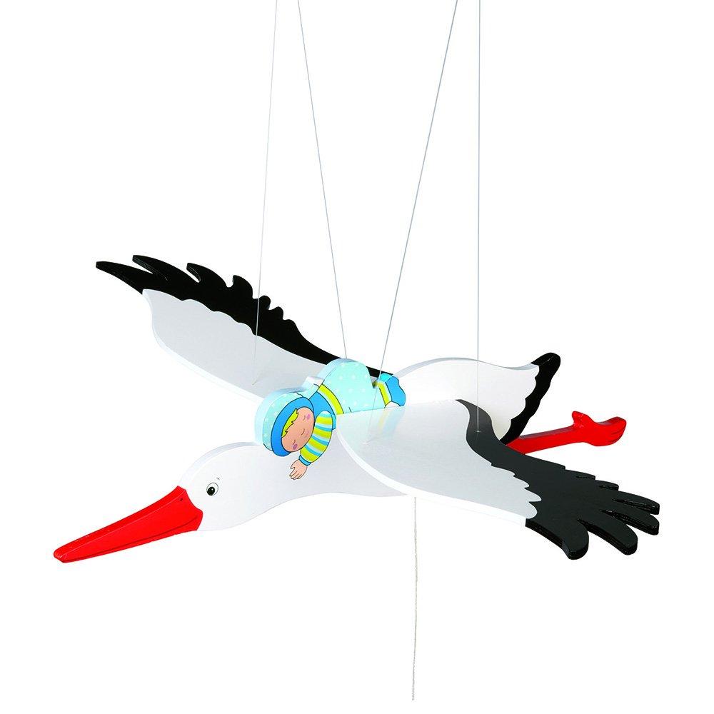 Toys pure Storch mit Baby, Schwingtier Gollnest & Kiesel 52991 Kinderzimmerdekoration