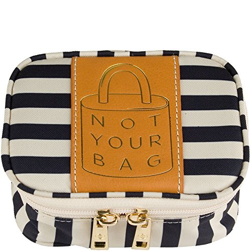 Boulevard Zoe Small Jewelry Case Stripe Navy