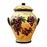COOKIE JAR, CANISTER TUSCANY GRAPE WINE DECOR
