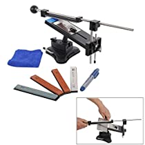 RioRand Professional Kitchen Knife Sharpener System Kit Fix-angle Version II With 4 Stones