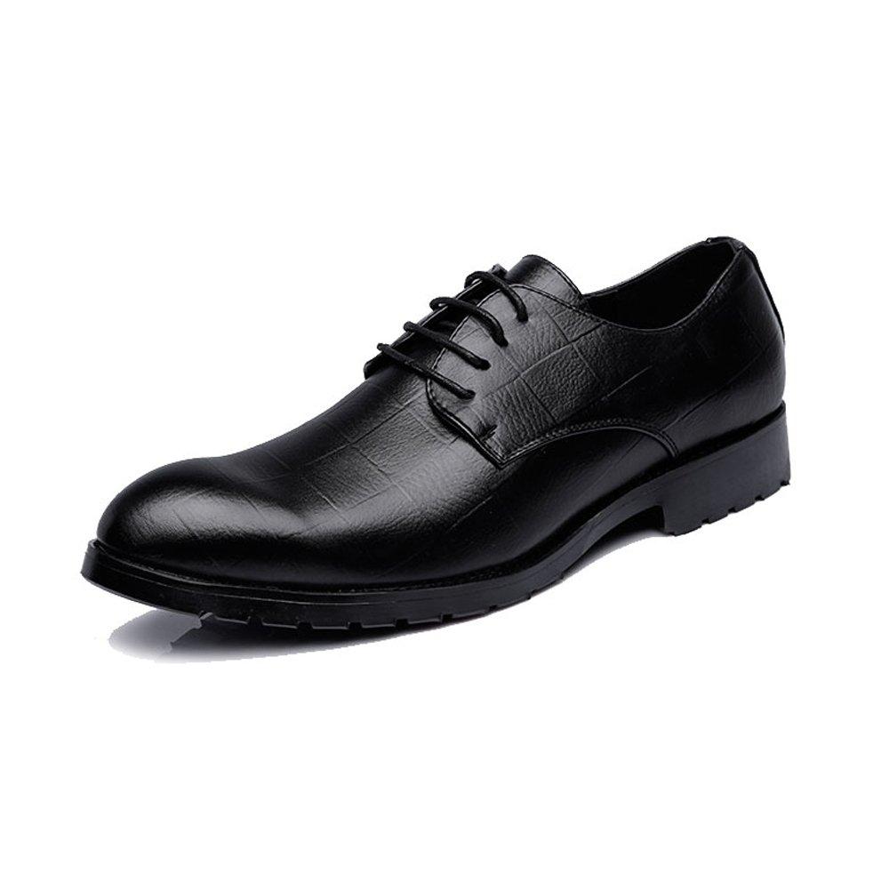 IWGR Herren Business PU Leder Schuhe Klassische Lace Up Müßiggänger Müßiggänger Müßiggänger Quadratische Textur Niedrige Top Oxfords Mode Slipper  07106a