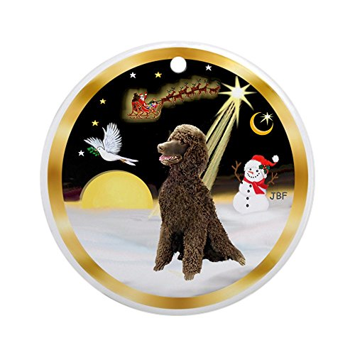 CafePress Nightflight/Standard Poodle (Ch) Ornament (Round) Round Holiday Christmas Ornament