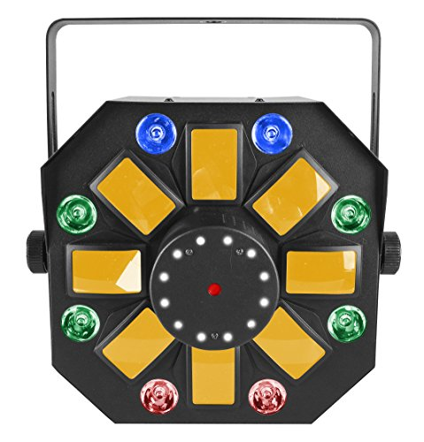 CHAUVET DJ Swarm Wash FX 4-in-1 RGBAW Rotating Derby w/LED Wash Light, Red/Green Laser and White SMD Strobes