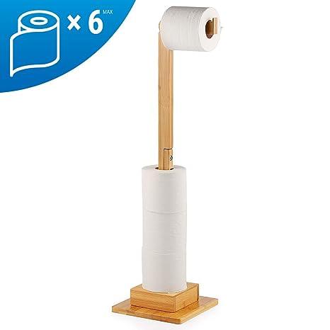 f/ür Toilettenpapierrollen 4 St/ück Kunststoff Toilettenpapierhalter