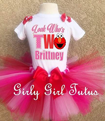 Elmo Girls 2nd Birthday Outfit Tutu -
