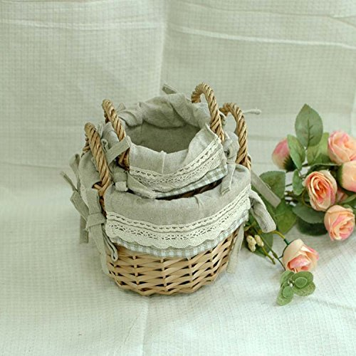 icnic Basket Storage Organizer Collection 2pcs In One Set,you Can Use As Basket. (1 Dozen Oatmeal)