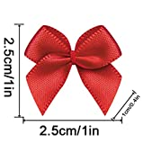 20 Color Pre-Tied Red Satin Gift Bows