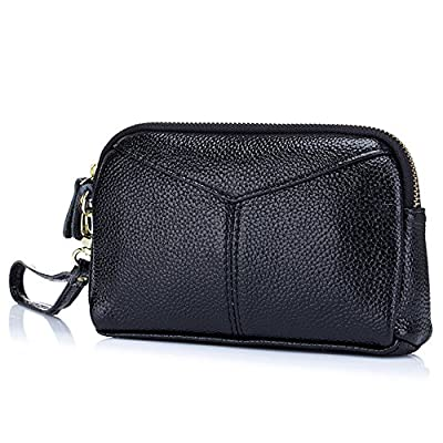 Aladin Large Leather Wristlet Purse, Zip Cell Phone Wallet Iphone 7 Plus 6S Galaxy S7 Note 5 for Women