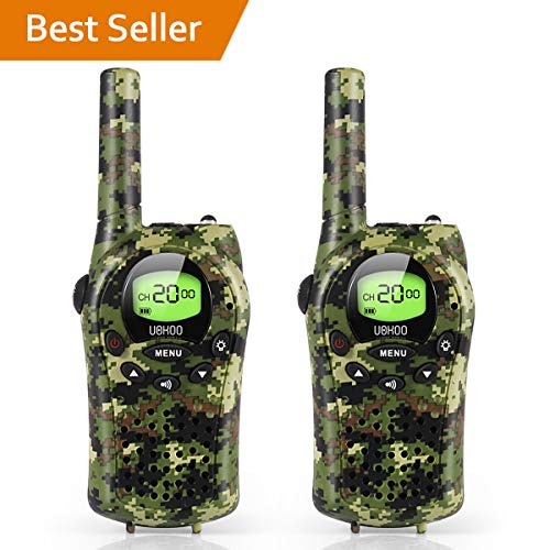 (Kids Walkie Talkies, UOKOO Walkie Talkies for Kids 22 Channel FRS/GMRS Two Way Radio Up to 3KM UHF Handheld Walkie Talkies, Toys for 5-year old Boys, Gifts for 7-year Old)