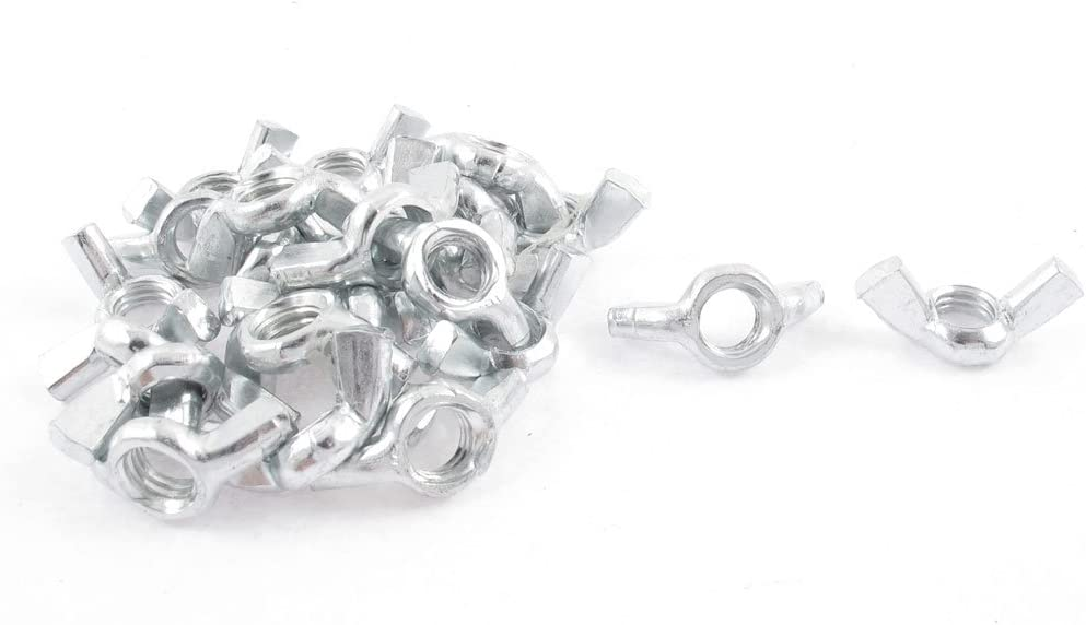 500 X Butterfly Wing Nuts 8Mm M8 Bzp Bright Zinc Plated Steel