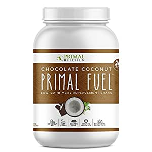 Primal Kitchen Primal Fuel Whey Protein Powder, Chocolate Coconut, 32 ounce, Paleo, Gluten Free with Beneficial Prebiotics