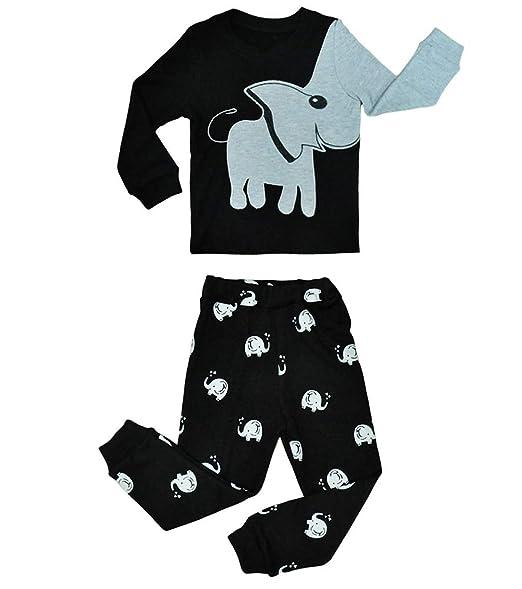 Amazon.com: Pajamas de algodón para niños pequeños, 2 piezas ...