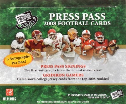 1 (One) Box - 2008 Press Pass Football Hobby Box (28 Packs per Box) - Possible Matt Ryan, Matt Forte, Chris Johnson, Joe Flacco, DeSean Jackson, Darren McFadden, and/or Felix Jones Rookie Cards!!!!
