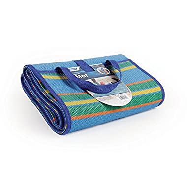 Camco 42814 Blue/Green 72  x 108  Striped Handy Mat with Strap