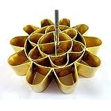 Cookie Press Discs Brass ' DOK JOK ' Original Country Manufacturer Stamp Lotus Flower Mold Springtime Net Weight (Approx.) 6.7 Oz, Diameter x Height (Approx.) 4x 11, Brass Color by ProudSupply