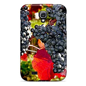 Premium PqbwrAa3649jbAXw Case With Scratch-resistant/ Dark Grapes Case Cover For Galaxy S4