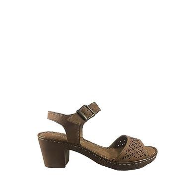 dc67c33505ce Porronet Sandales pour Femme Cuir - Marron - Cuir