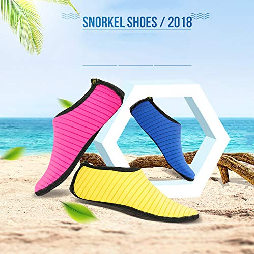 Water Stripe Swim Yellow Socks QS4 Dry Aqua Shoes Women Sports Surf June Sports Yoga Quick Socks Barefoot Men Shoes Beach for XgAqR