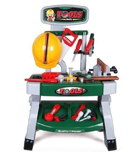 deAO Taller Mecánico con Set de Herramientas De Juguete Mesa de Trabajo