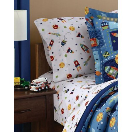 MS Twin/Full Comforter Set, (Space Bed in a Bag + Handi Wipes, Full) by Mainstay (Image #1)