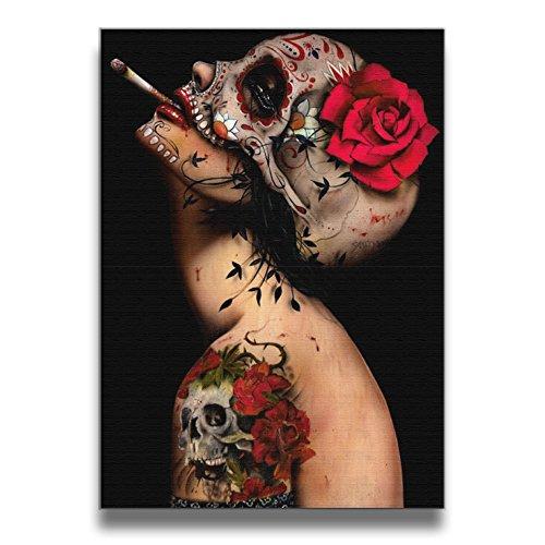 ReBorn Viva La Muerte Frameless Giclee Artwork Painting For Home Office Decor