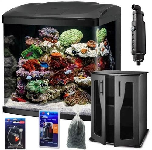 Coralife BioCube LED Aquarium BASIC SALTWATER FISH ONLY BUNDLE (32)