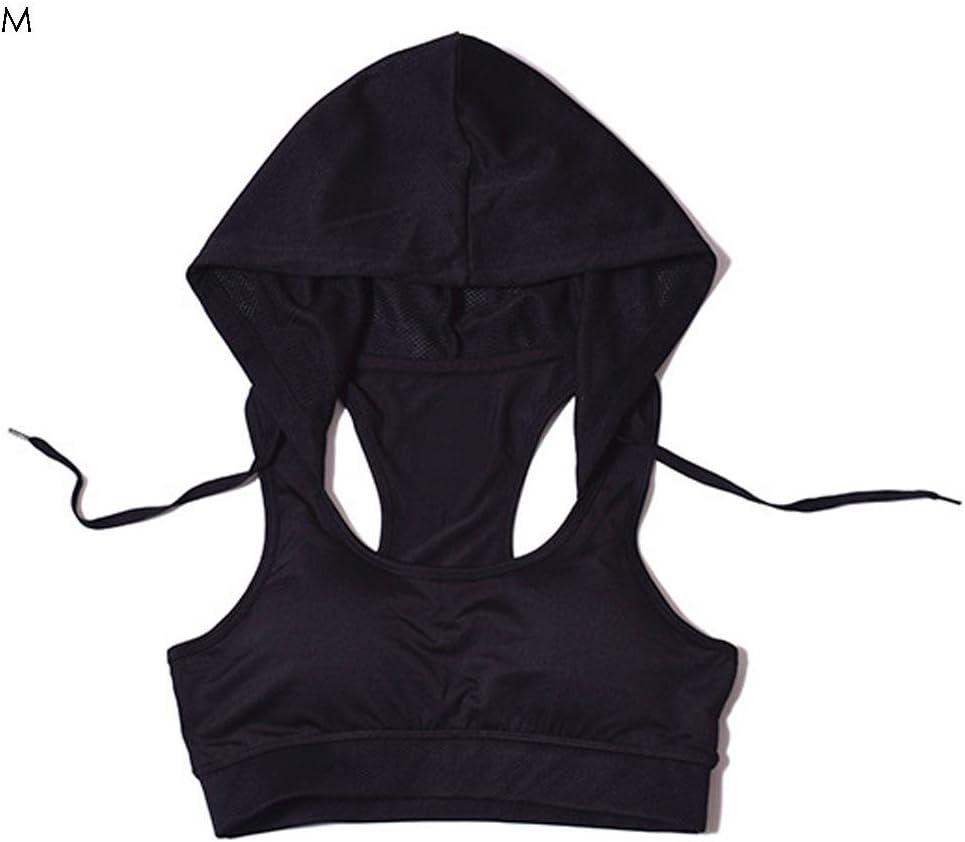 Mujer Sujetador Deportivo con capucha de yoga sujetador Mujer ...