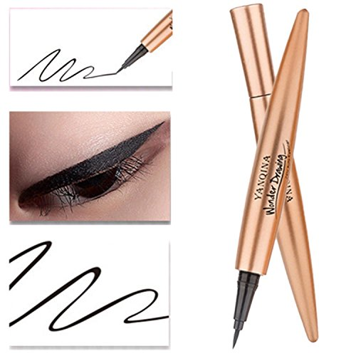 Waterproof Eyeliner Pen Super Slim Liquid Eyeliner Eye Liner Gel Black