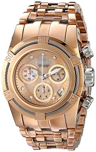 Invicta Women's 16111 Bolt Analog Display Swiss Quartz Rose Gold Watch