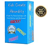 Kids Create Absurdity Family Card Game for Kids with Funny Questions and Hilarious Answers Fun for Kids, Adults Teens and Tweens Family Travel Card Game for Kids in Car-Fun Card Game for Families