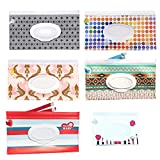 #10: 6 Pack Reusable Wet Wipe Pouch - Wipes Dispenser for Baby or Personal Wipes - Baby Portable Travel Wipes Cases