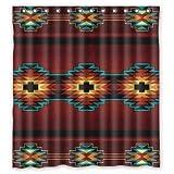 Leiacikl22 Southwest Native American Polyester Bathroom Shower Curtain 66(W)x72(H)-Inch