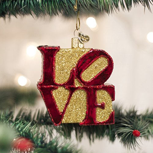 Love Ornament (Old World Christmas Love Glass Blown Ornament)