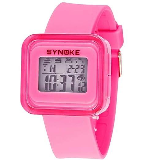 Cebbay Liquidación Imported Silicone LED Light Digital Sport Reloj de Pulsera para muñeca Kid Unisex (Rosa): Amazon.es: Relojes
