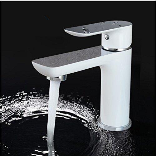 Gowe bathroom shower tap waterfall bathtub sink faucet mixer basin sink tap white shower set Basin Faucet set 1