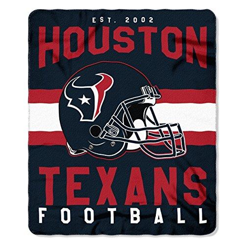 The Northwest Company NFL Houston Texans Singular Fleece Throw Blanket Singular Fleece Throw Blanket, Blue, One Size